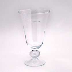 L.V. Harkness Footed Vase With Ball