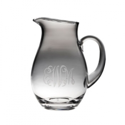 Large Pitcher with Monogram