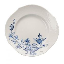 Blue Onion Vine Relief Dessert Plate