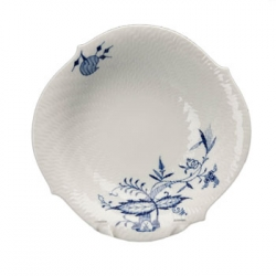 Blue Onion Vine Relief Serving Bowl
