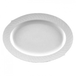Waves Relief Oval Platter