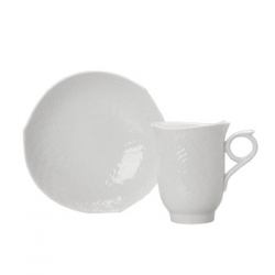 Waves Relief Coffee Cup and Saucer