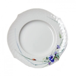 Waves Relief Woodland Flora Dessert / Salad Plate