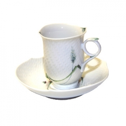 Waves Relief Woodland Flora Coffee Cup and Saucer