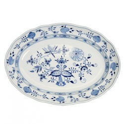 Blue Onion Oval Platter