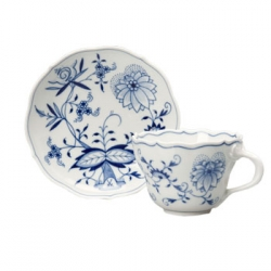 Blue Onion Cup and Saucer