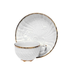 Swan Service Gold Filet Cup And Saucer