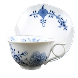 Blue Onion Vine Teacup and Saucer