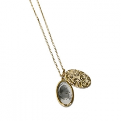 Oval Ring Necklace