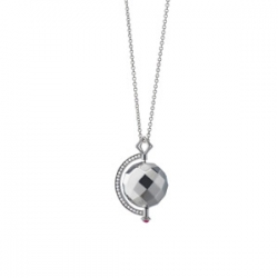 Planet Mars Necklace with Ruby