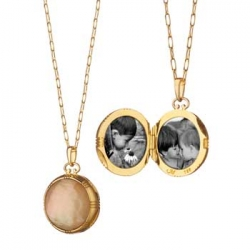 Mother of Pearl Stone Locket