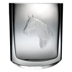 Engraved Horse Head Vase