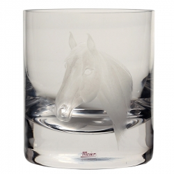 Horse Engraved Double Old Fashioned