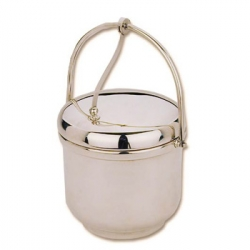 Silverplate Ice Bucket with Swing Handle