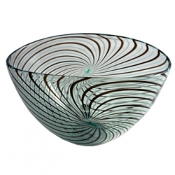 Green Spiraline Oval Bowl