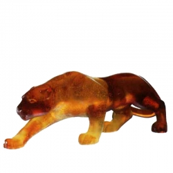 Small Amber Panther Sculpture