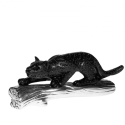 Crystal Black Panther on Log