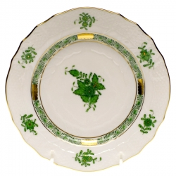 Chinese Bouquet Green Dinner Plate