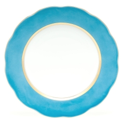 Silk Ribbon Turquoise Charger