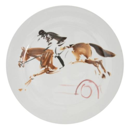 Set Of 6 Equestrian Dinner Plates