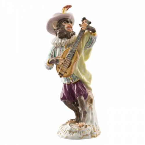 Guitar Player Figurine Member Of The Monkey Orchestra Lv