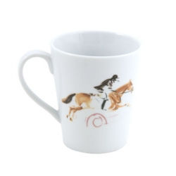 Equestrian Mug Black and Brown
