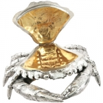 Sterling Silver Crab Box with Vermeil Well