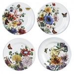Field of Flowers Set of Four Party Plates