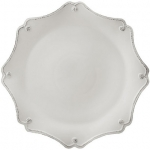 Berry & Thread Whitewash Scalloped Charger
