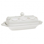 Berry & Thread Whitewash Covered Butter Dish