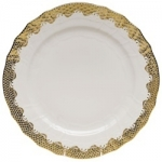 Fish Scale Gold Service Plate