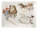 Acrylic \Carriage Horses\ Tray