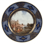 \Les Peches\ Dinner Plate - Frog Gigging From 1840-1846, Ambroise-Louis Garneray, a painter of seascapes at the S�vres manufactory, produced a significant dinner service devoted to the theme of fishing.  He initially envisioned a collection of 121 pieces, but only 85 went on to be produced.  Today, only a few pieces from the collection still remain: four are currently housed in the National Ceramics Museum in S�vres, and two others are held in the Louvre Museum.