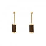 Baccarat Brown and Gold Insomnight Earrings with Diamonds