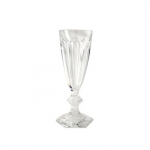 Baccarat Harcourt Champagne Flute Since 1764, when King Louis XV gave the Bishop de Montmorency-Laval of Metz permission to found a glassworks in the town of Baccarat in Lorraine, the name Baccarat has personified a certain image of French fashion and culture. It started as a simple glassworks producing windowpanes, mirrors, and everyday drinkware, until 1816 when the first crystal oven went into operation. Over 3,000 people worked at the manufactory by this time.