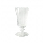 Baccarat Mille Nuits Wine Goblet Since 1764, when King Louis XV gave the Bishop de Montmorency-Laval of Metz permission to found a glassworks in the town of Baccarat in Lorraine, the name Baccarat has personified a certain image of French fashion and culture. It started as a simple glassworks producing windowpanes, mirrors, and everyday drinkware, until 1816 when the first crystal oven went into operation. Over 3,000 people worked at the manufactory by this time.