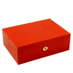 Red \Croco\ Jewelry Box