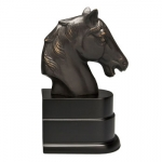 Black Horse Head Bookend