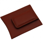 Brown Leather Money Clip/Credit Card Case