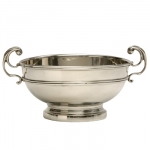 Pewter Derby Bowl Footed This bowl can be used for such purposes as a Christening Bowl, a wedding present or a trophy.  It can be customized with up to 3 lines of text or monogram which allows for a truly personal gift.