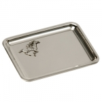 Pewter Trays with Jockey Applique