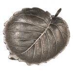 Sterling Silver Hazelnut Leaf Placecard Holder