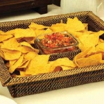 Rattan Square Chip and Dip