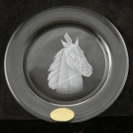 Small Plate/Wine Coaster Engraved with Standardbred Image