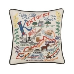 Embroidered Pillow - Kentucky