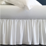 Celeste White Queen Bedskirt
