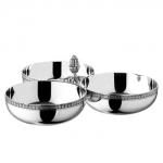 Malmaison Silver Plates 3-Part Server