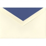 Crane Ecruwhite Envelopes with Regent Blue Lining