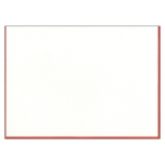 Crane White Notes Handbordered in Red with Lined Envelopes
