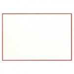 Crane White Cards Handbordered in Red with Lined Envelopes